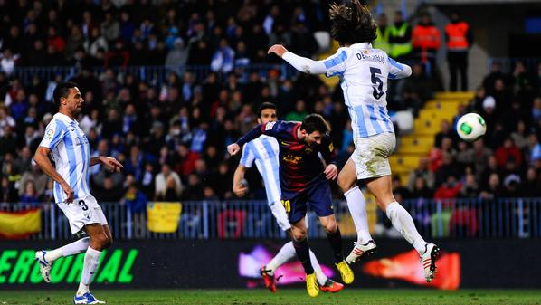 Malaga CF and FC Barcelona - Copa del Rey Quarter Final