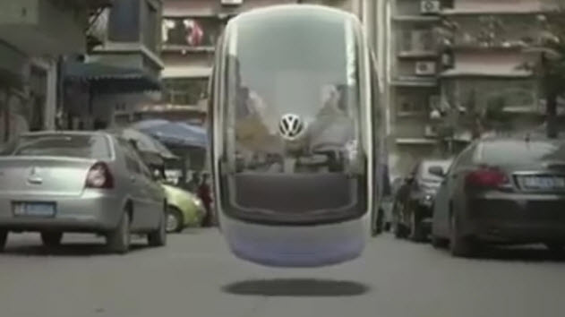Volkswagen-Hover-Car-flying-down-street-2