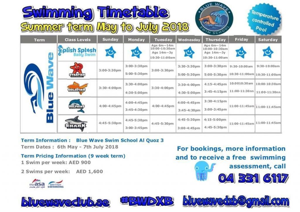 Swimming Lessons in ,Dubai for adults & Kids, programs rates